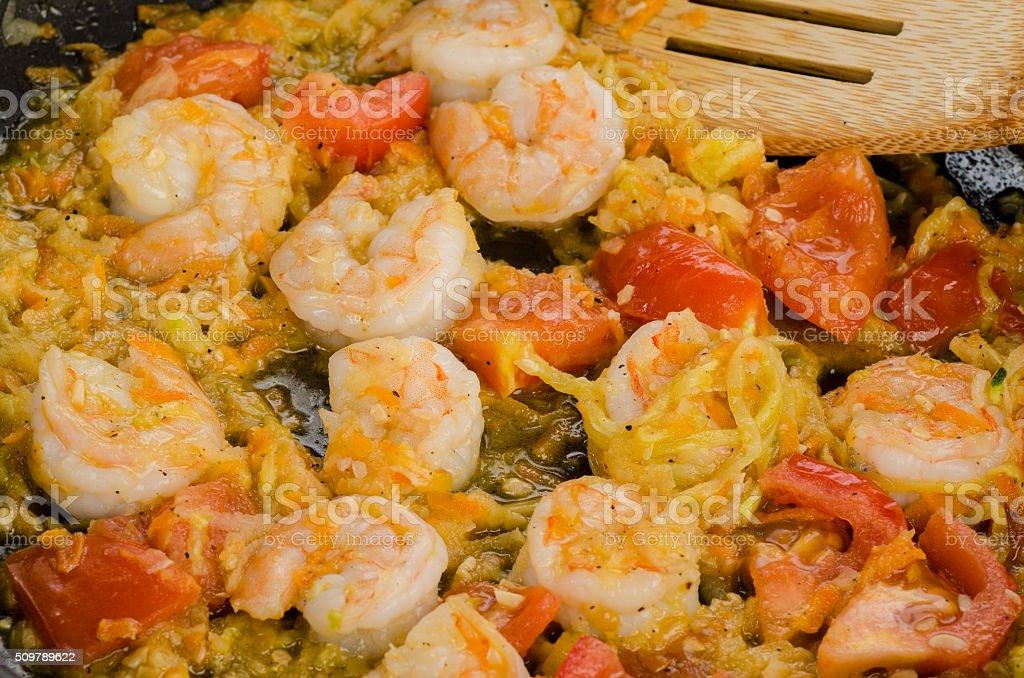 Cooking Shrimp stock photo