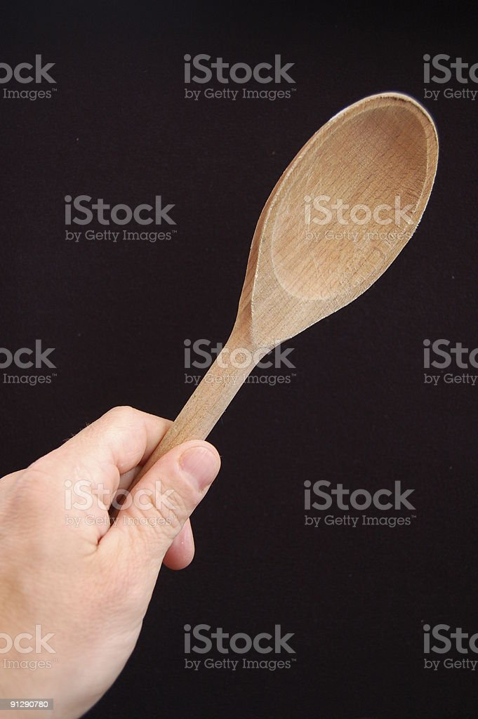 Cooking spoon. stock photo