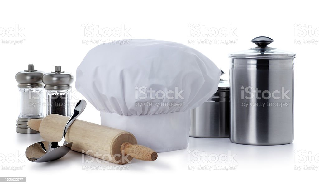 Cooking Supplies Isolated on White royalty-free stock photo