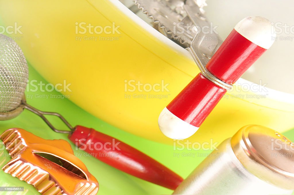 Cooking supplies stock photo