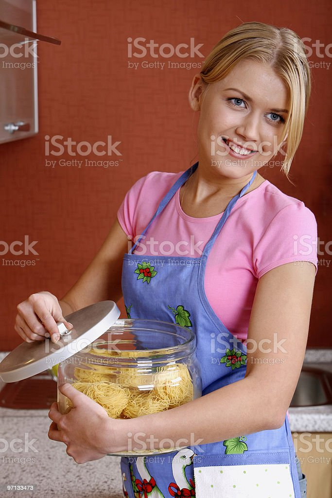 Cooking the dinner royalty-free stock photo