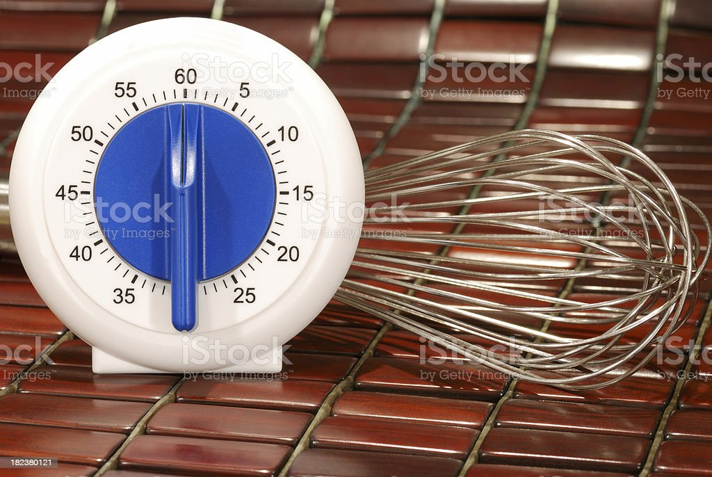 Cooking timer. royalty-free stock photo
