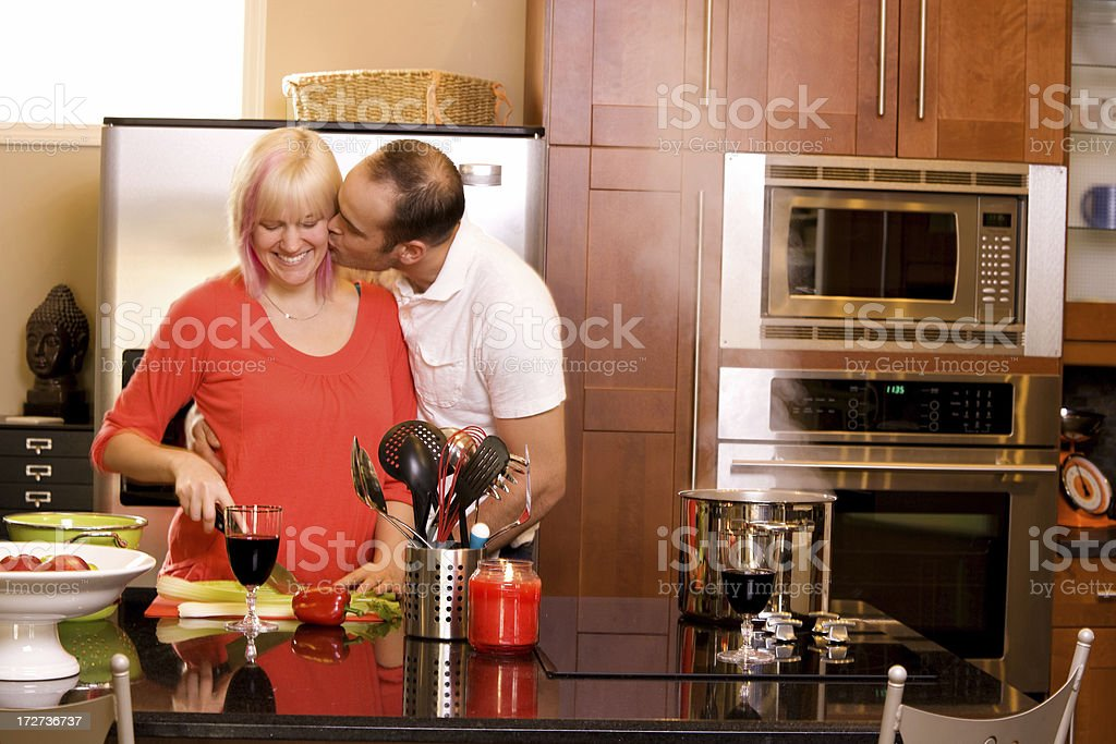 Cooking Together royalty-free stock photo