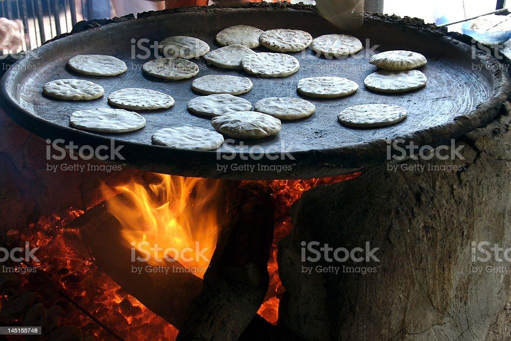 Cooking Tortillas 2 royalty-free stock photo