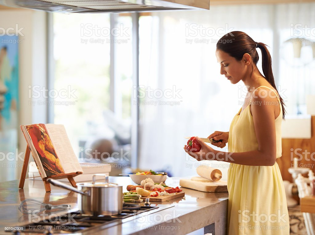 Cooking up a storm stock photo