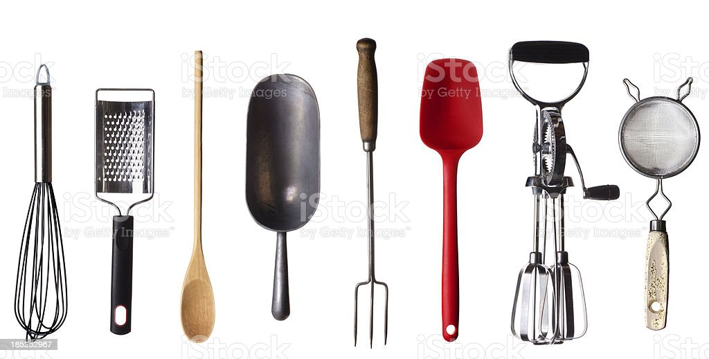 Cooking Utensils Border royalty-free stock photo