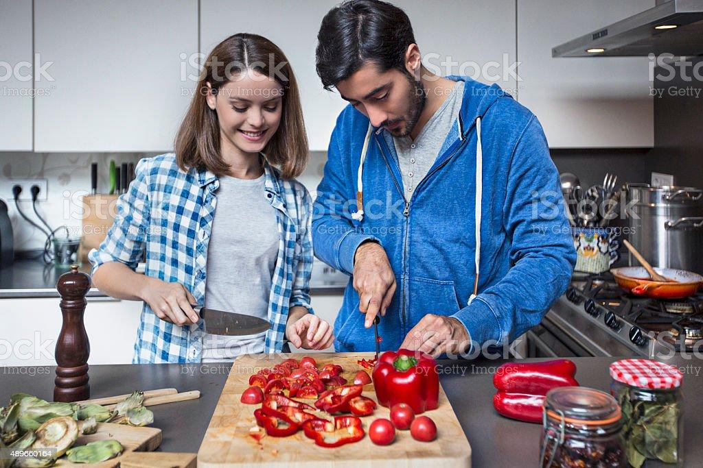 Cooking Vegan food stock photo