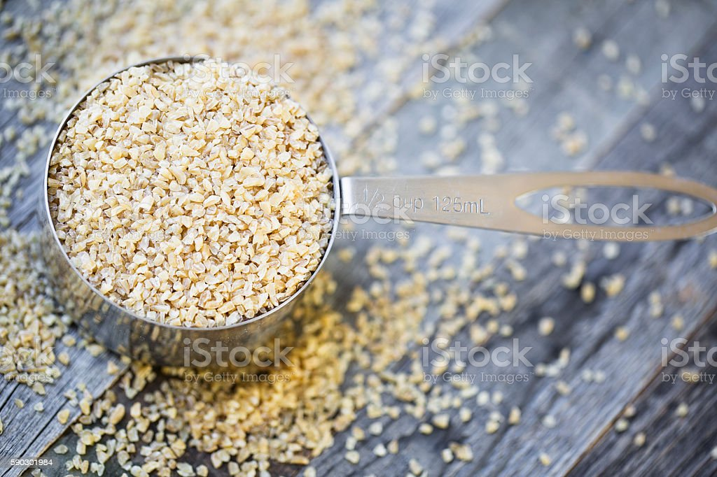 Cooking with Bulgur stock photo