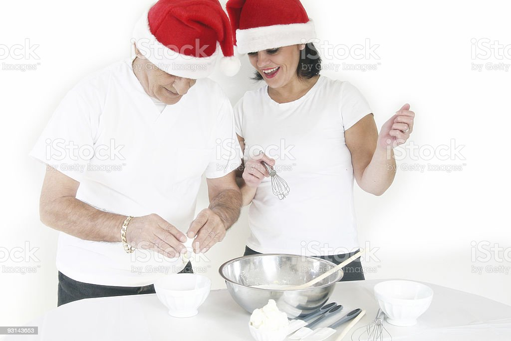 Cooking with dad! stock photo
