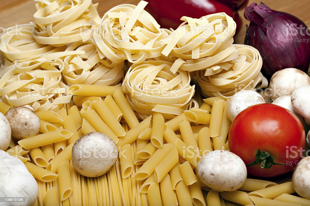 Cooking with italian ingredients royalty-free stock photo