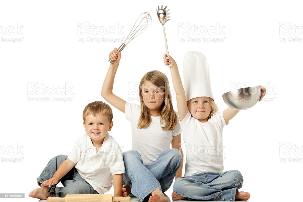 Cooking with Kids royalty-free stock photo