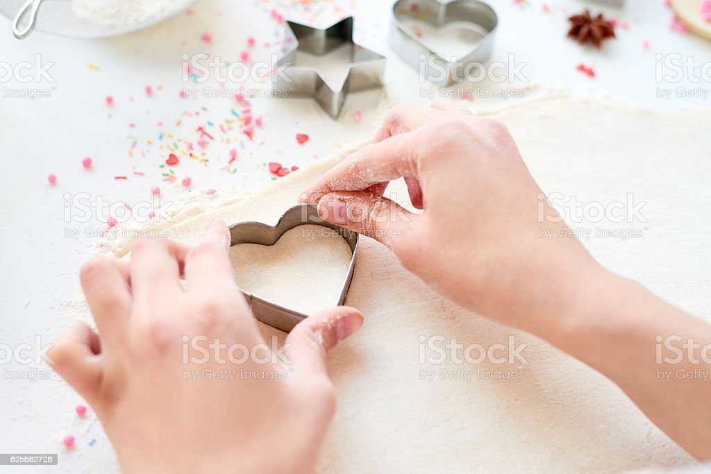 Cooking with love stock photo