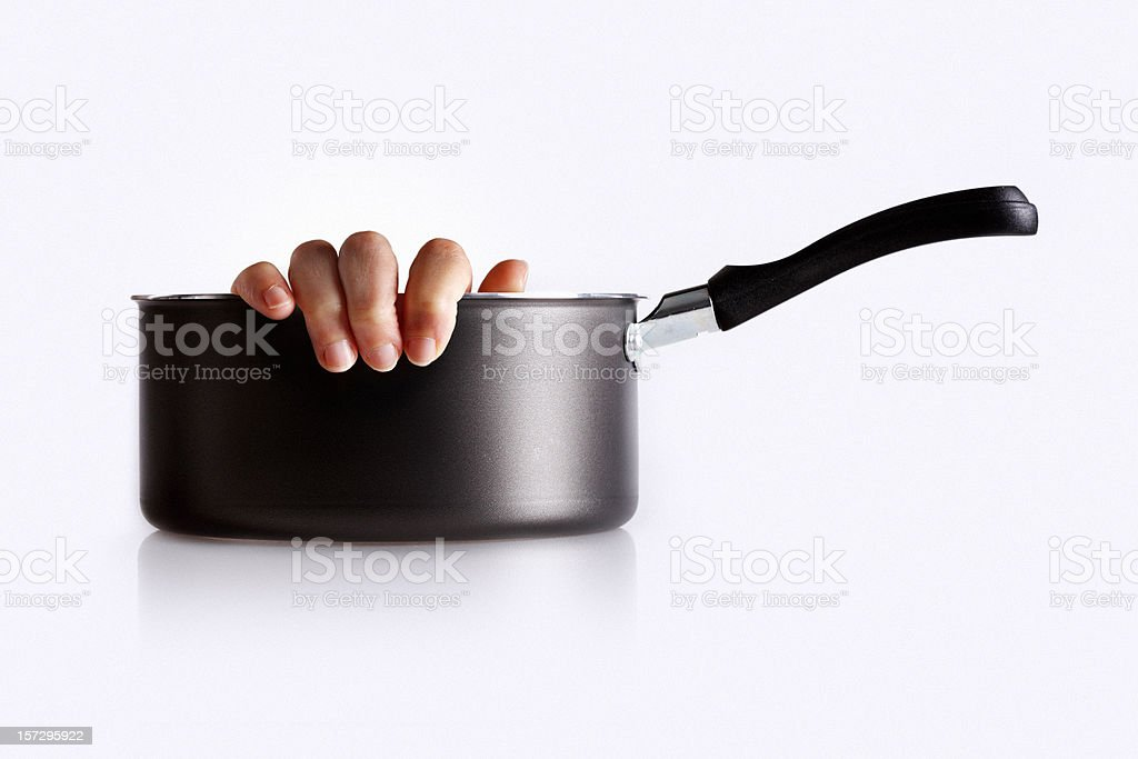 cooking with one hand stock photo