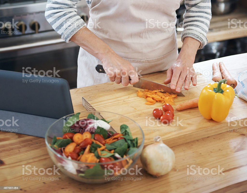 Cooking with the freshest ingredients stock photo