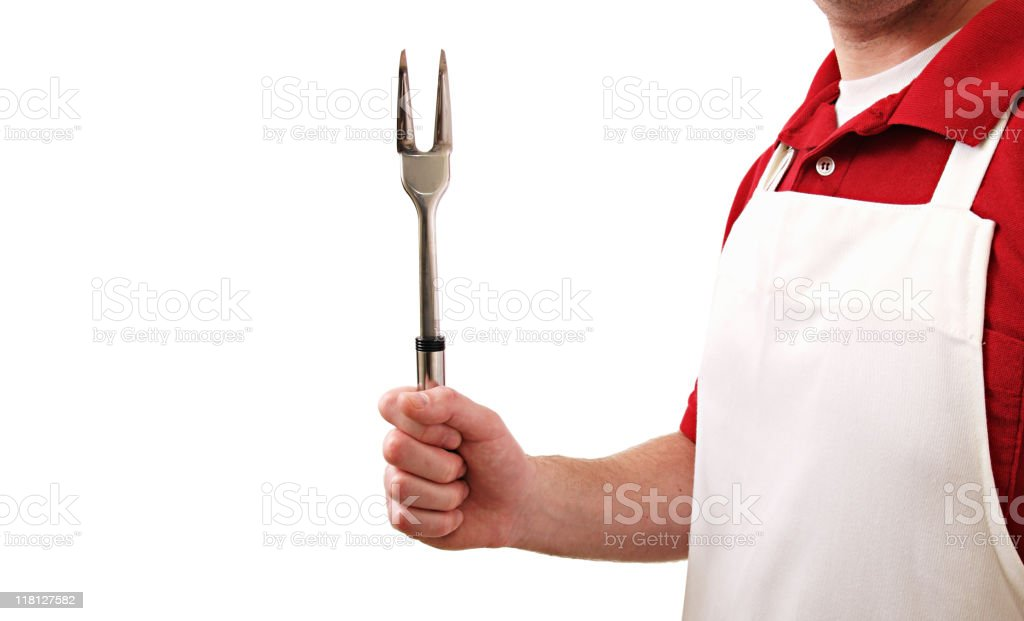Cookout Man stock photo