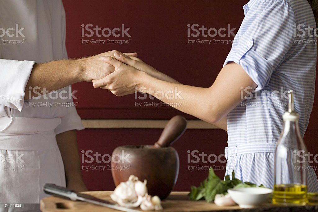 Cooks and ingredients royalty-free stock photo