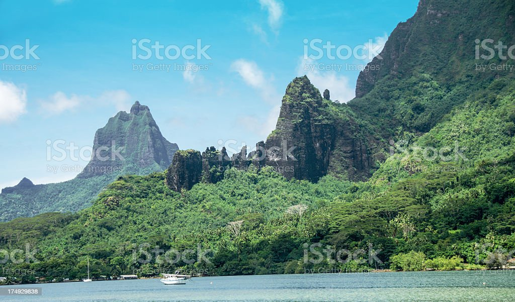 Cooks Bay on the Island of Moorea royalty-free stock photo