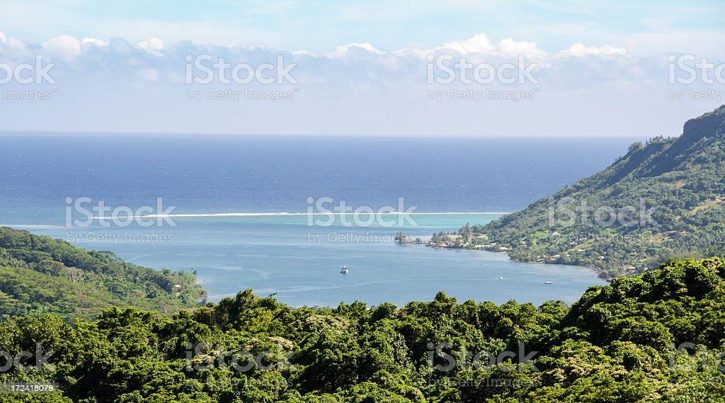 Cooks Bay Scenic View ... Moorea stock photo