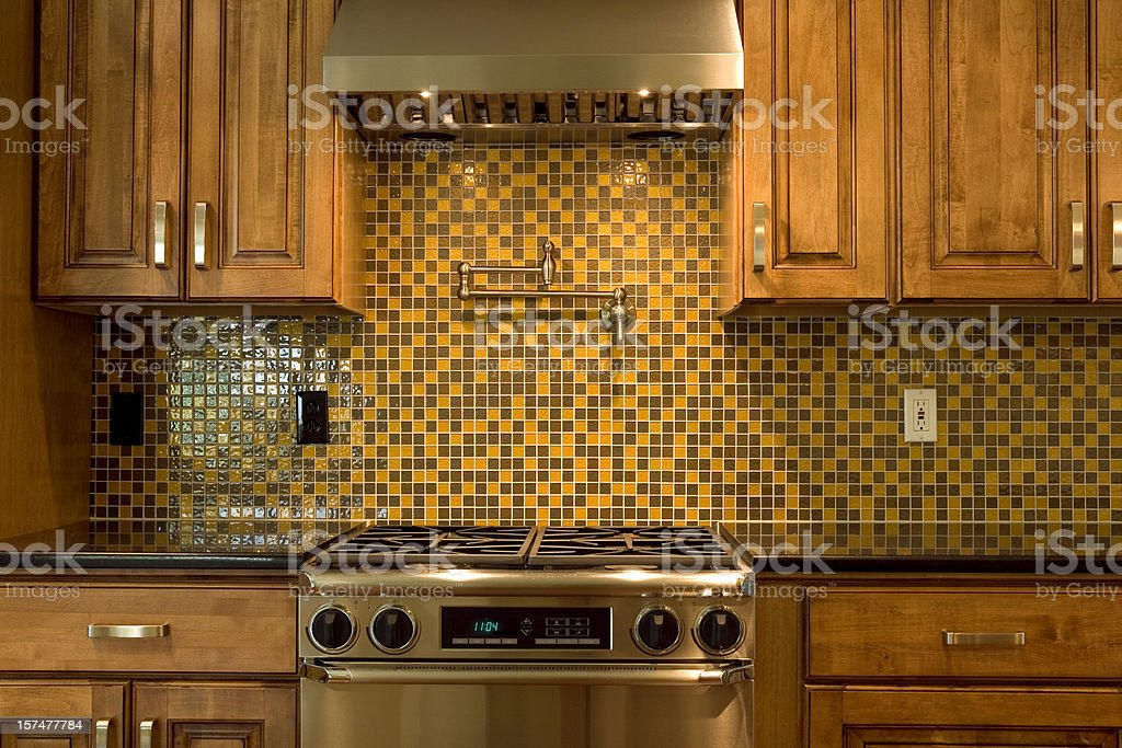 Cooktop with Glass Tiles stock photo