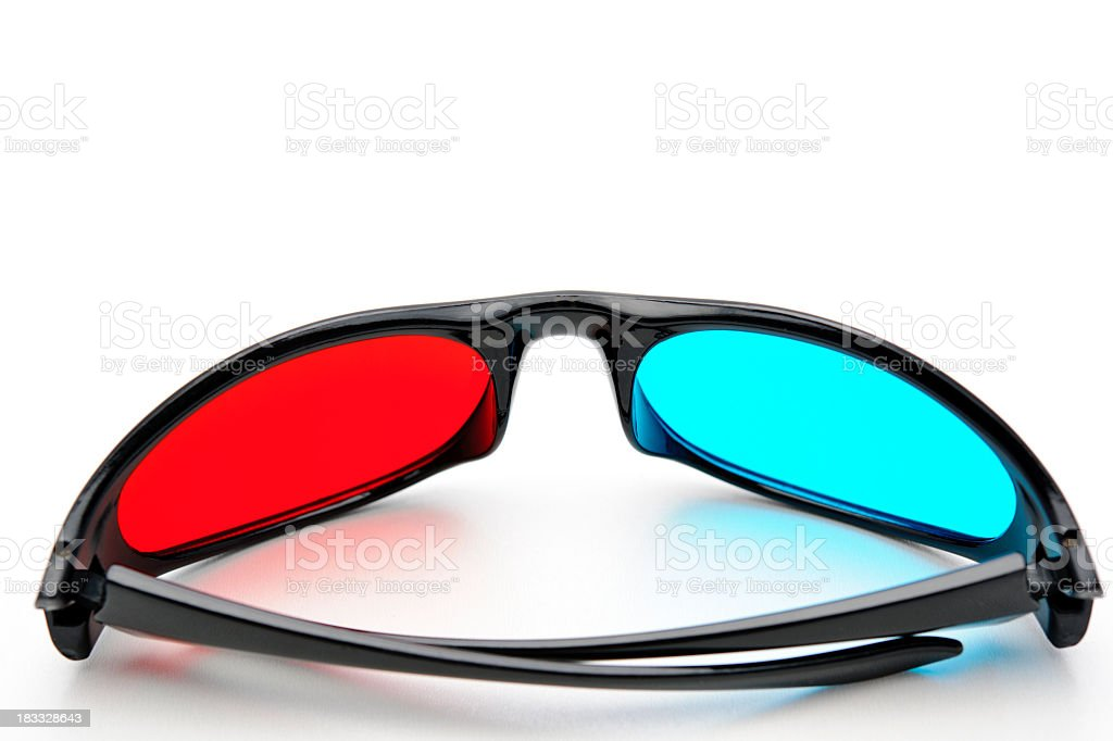 cool 3D glasses royalty-free stock photo
