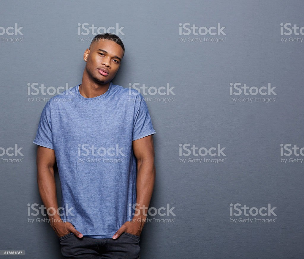 Cool african american guy stock photo