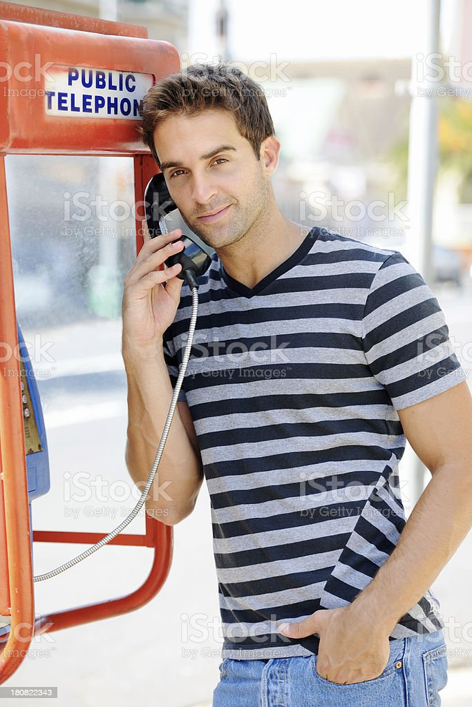 Cool and casual calling royalty-free stock photo