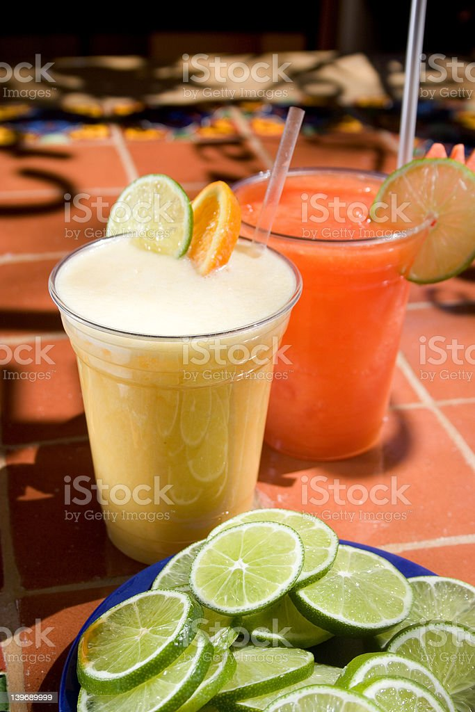 Cool and Colorful Drinks stock photo