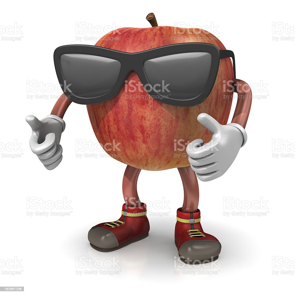 Cool Apple Character royalty-free stock photo