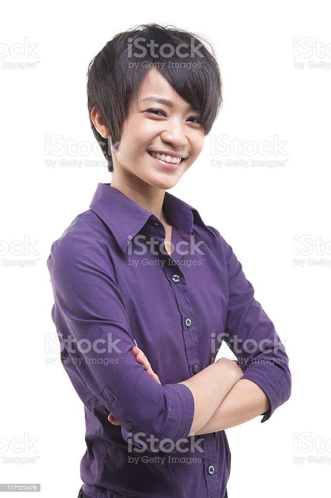 Cool Asian woman royalty-free stock photo