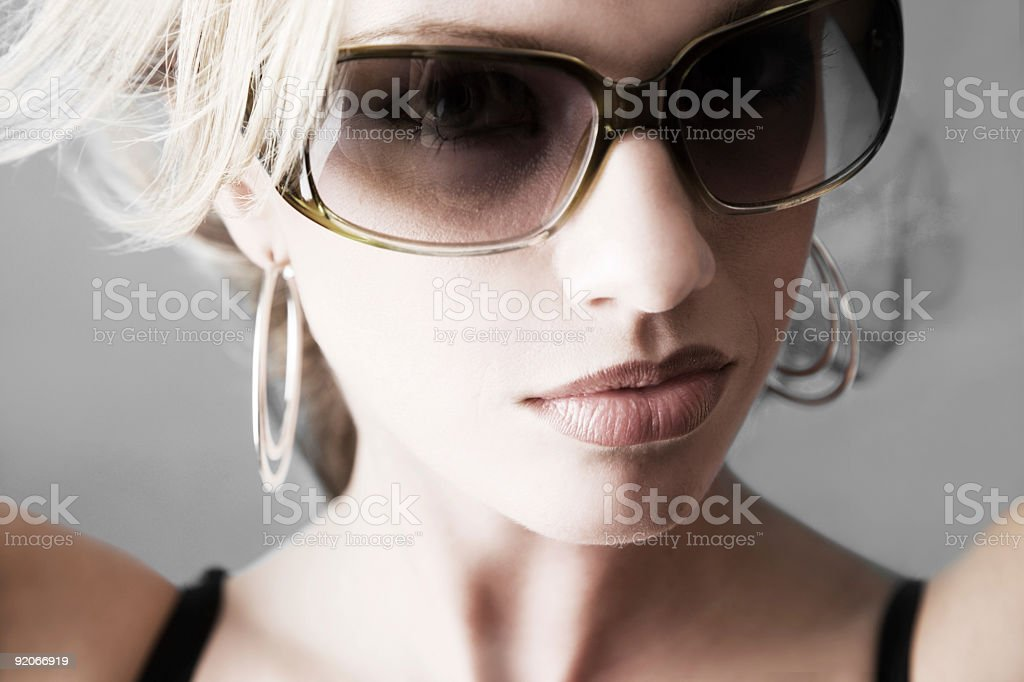 Cool Beauty / Colorized royalty-free stock photo