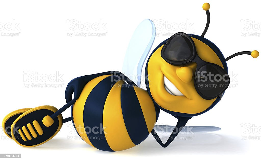 Cool bee stock photo