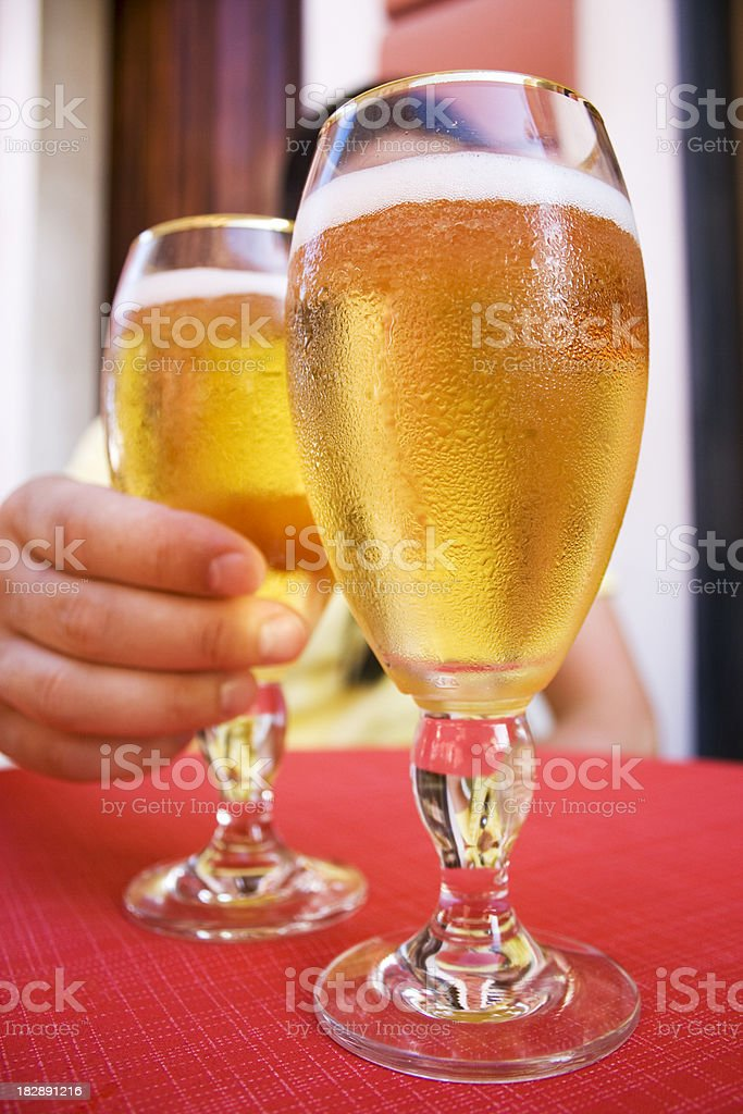 cool beer on the table royalty-free stock photo
