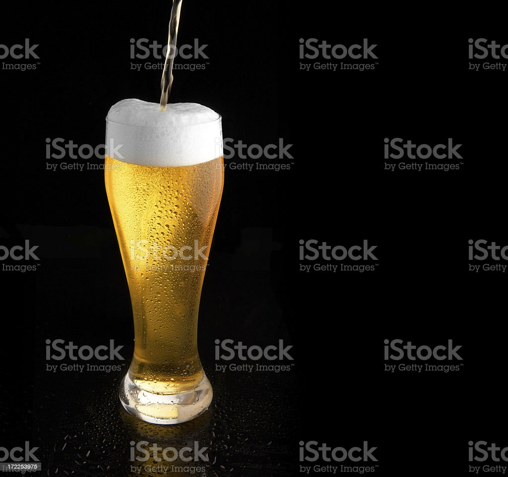 cool beer with place for text royalty-free stock photo