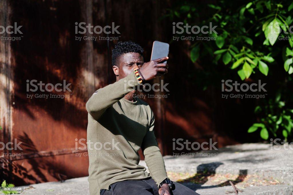 Cool black african american man stock photo