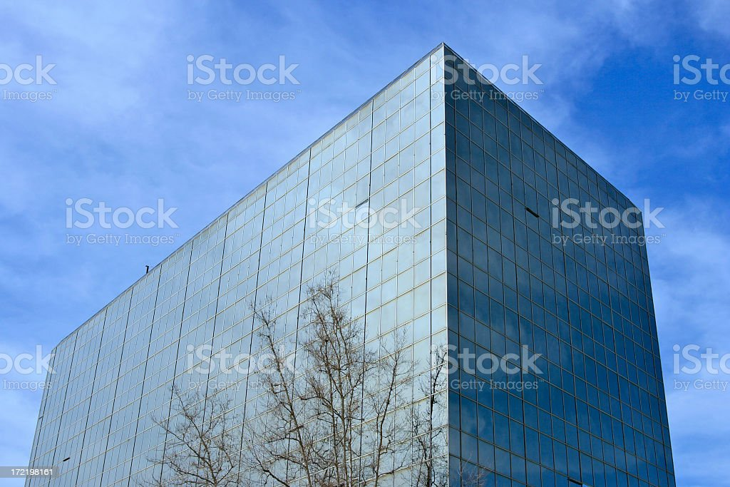 Cool Blue Building royalty-free stock photo