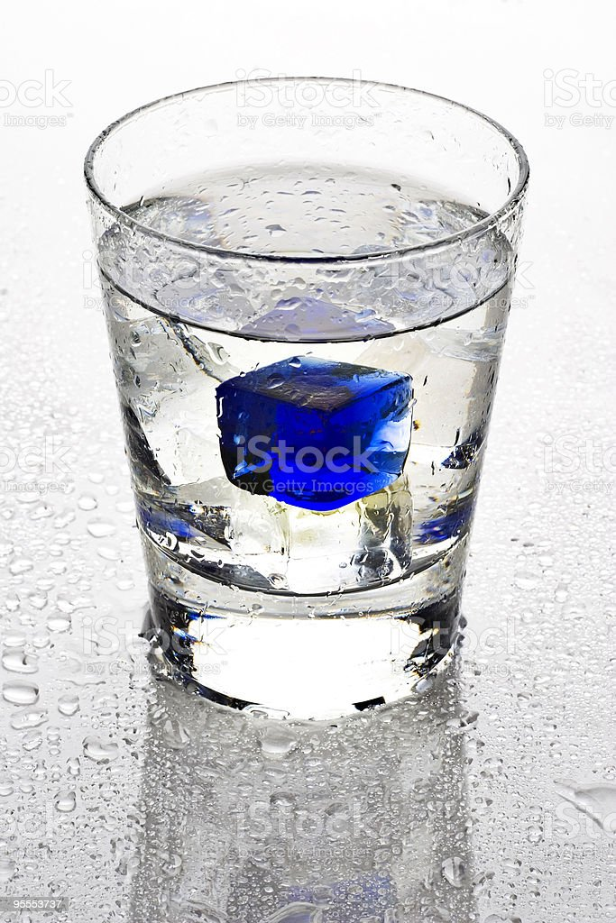 Cool blue cube royalty-free stock photo