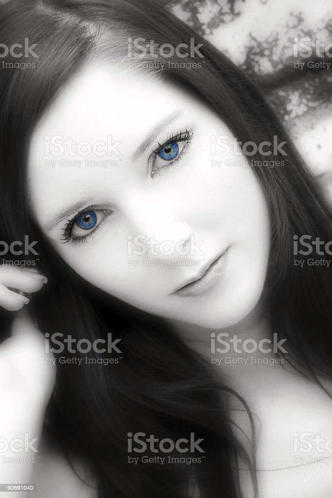 Cool Blue Eyes royalty-free stock photo