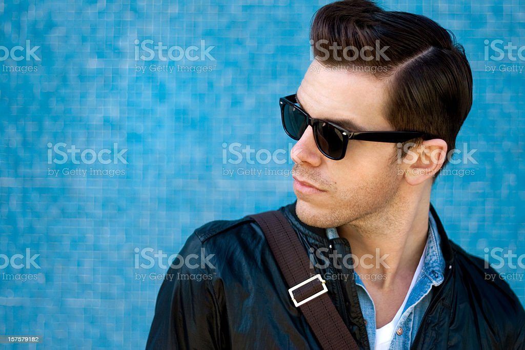 Cool Blue Guy stock photo