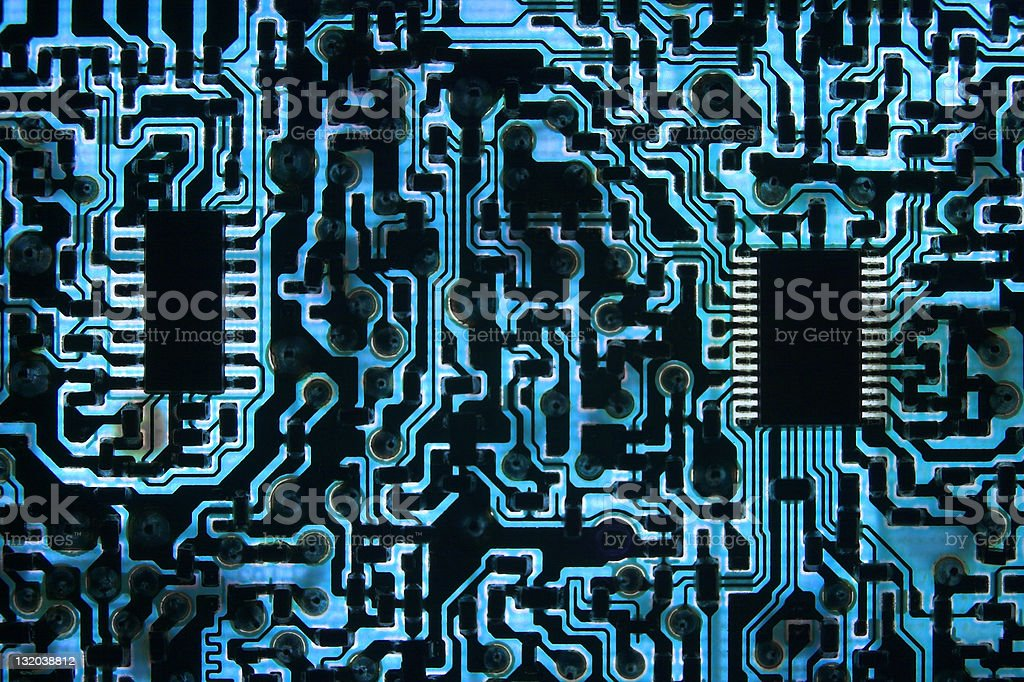 Cool Blue Information Highway royalty-free stock photo