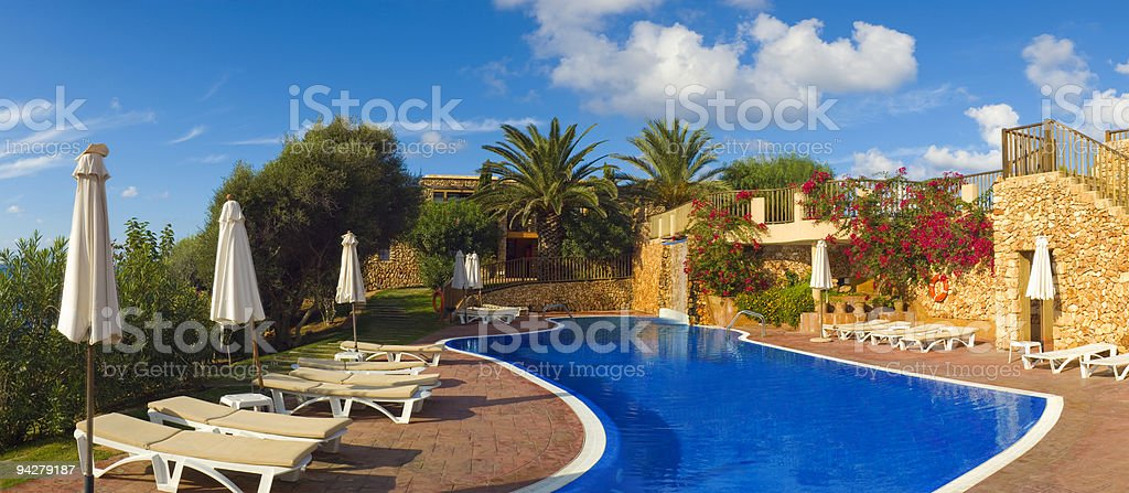 Cool blue summer holiday pool royalty-free stock photo