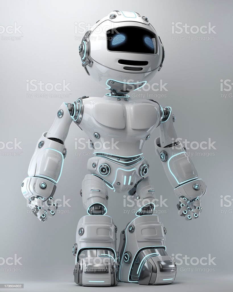 Cool brave robot royalty-free stock photo
