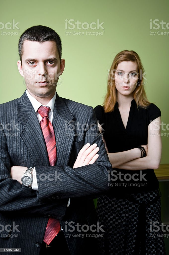 Cool Business Couple royalty-free stock photo