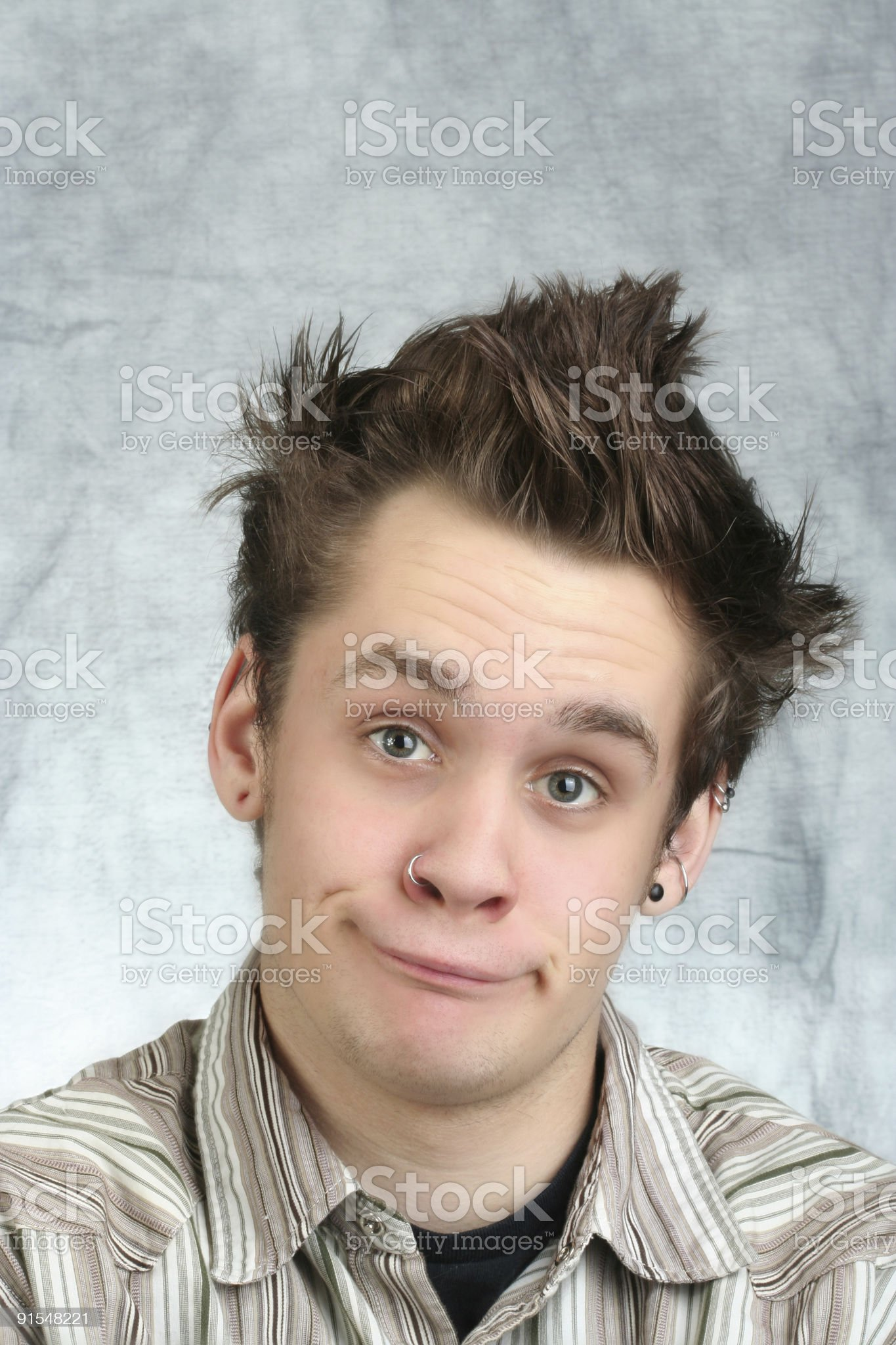 Cool but Goofy Teenager royalty-free stock photo