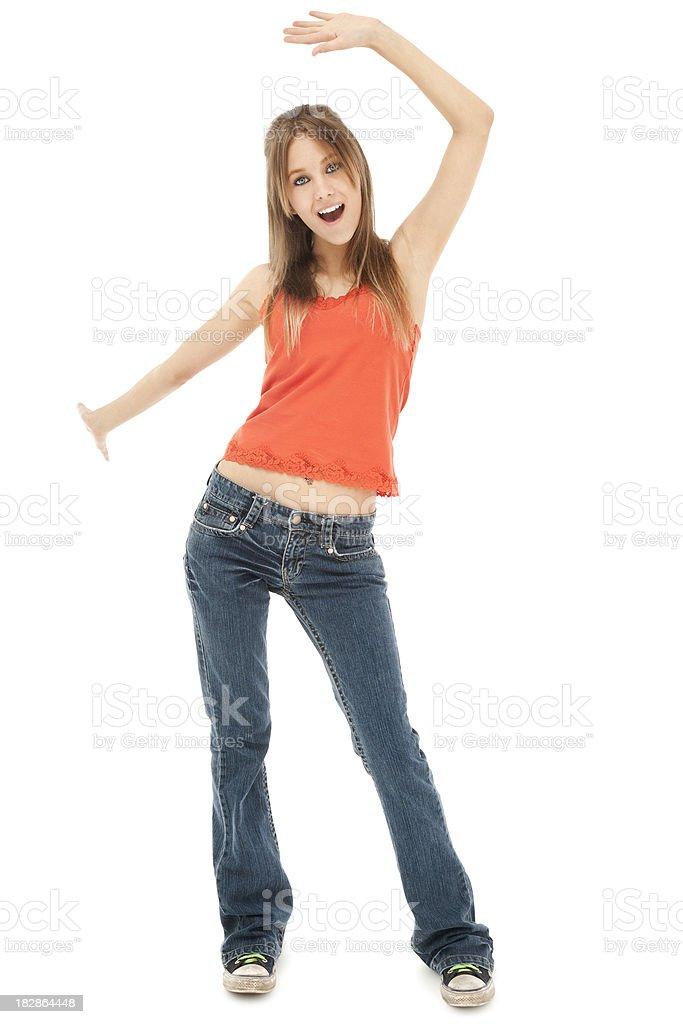 Cool Casual Teen Dancing royalty-free stock photo