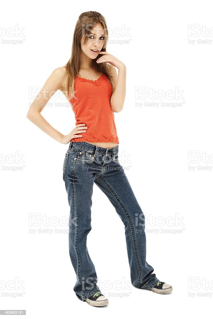 Cool Casual Teen Girl royalty-free stock photo
