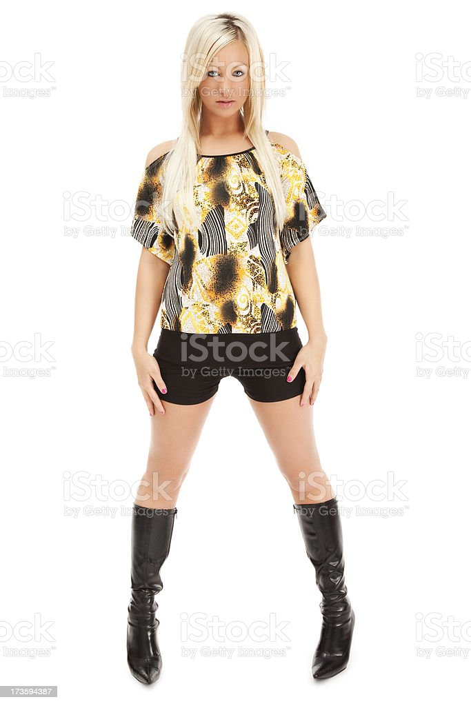 Cool Casual Young Woman royalty-free stock photo
