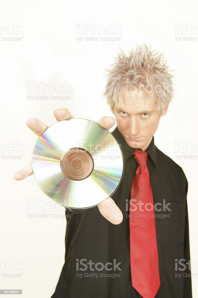 Cool CD royalty-free stock photo