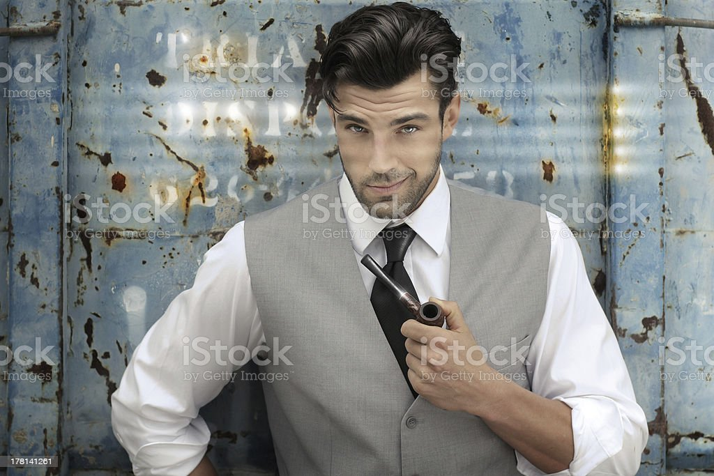 Cool character stock photo