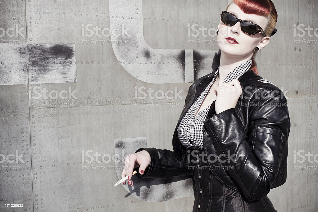cool chick stock photo