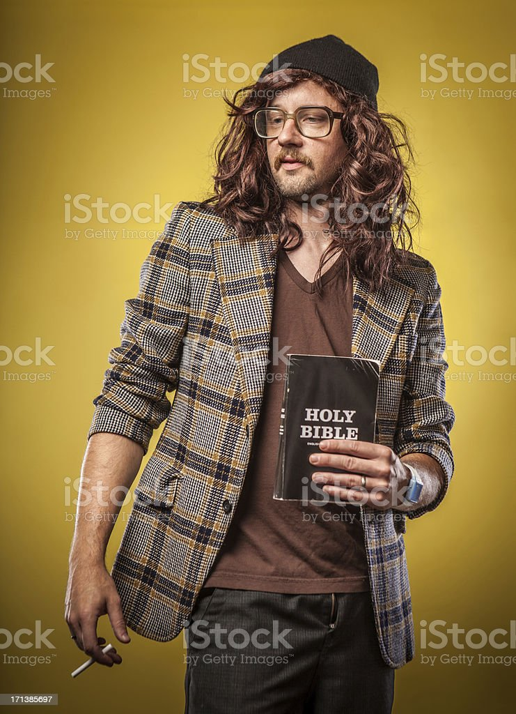 Cool Christian Hipster Alternative Church Man Portrait royalty-free stock photo